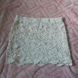 Fun, lace mini skirt